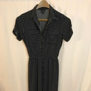 Enfocus polka dot short sleeved dress